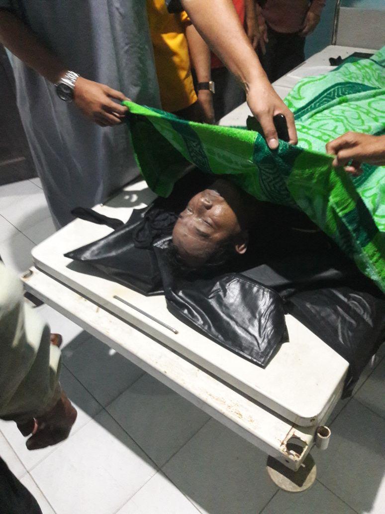 Alm.Said Jaffarsyah saat di Evakuasi di RSUD